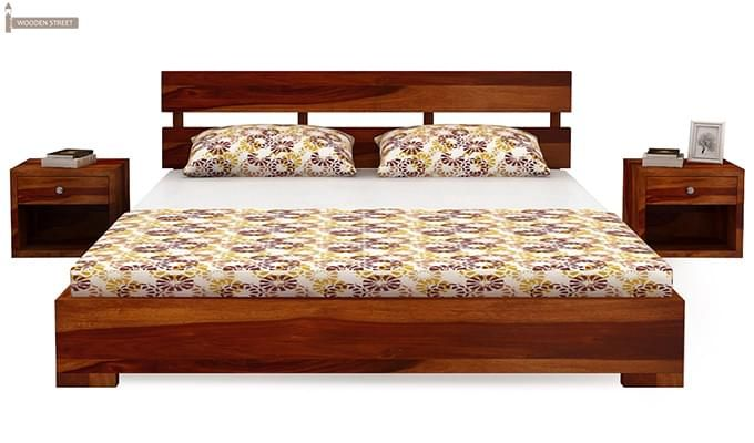 Downey Bed (Queen Size, Honey Finish)-2