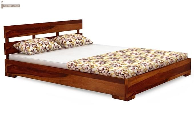 Downey Bed (Queen Size, Honey Finish)-3