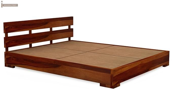 Downey Bed (Queen Size, Honey Finish)-4