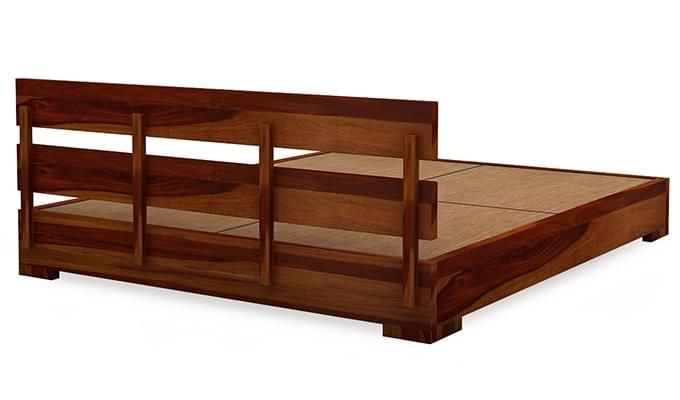Downey Bed (Queen Size, Honey Finish)-5