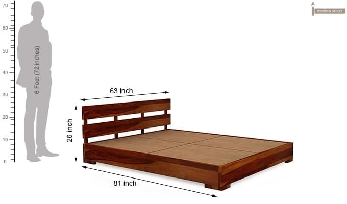 Downey Bed (Queen Size, Honey Finish)-8