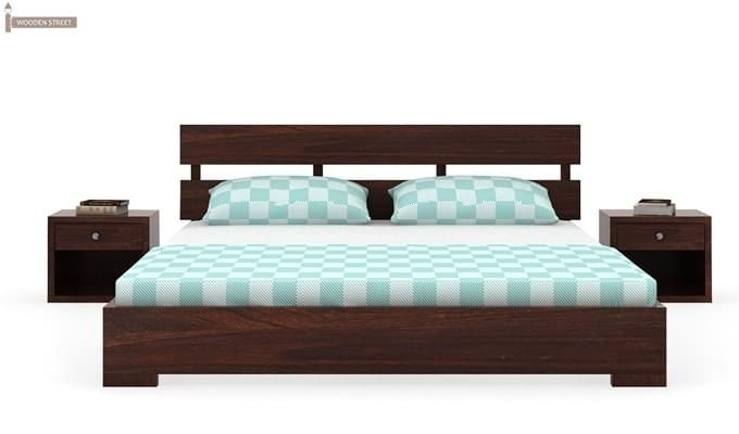 Downey Bed (Queen Size, Walnut Finish)-2
