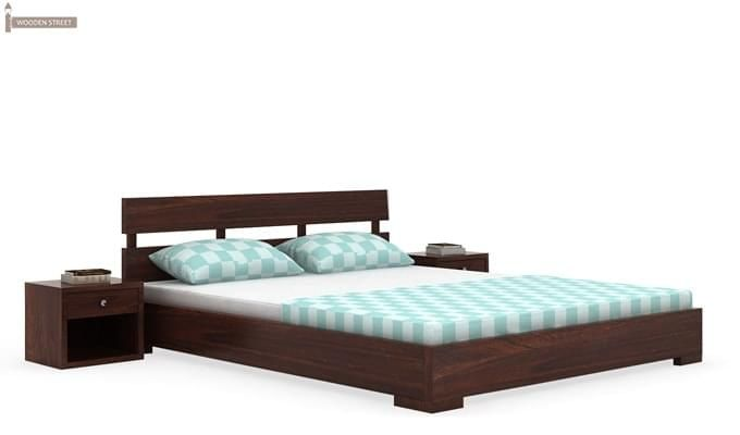 Downey Bed (Queen Size, Walnut Finish)-3