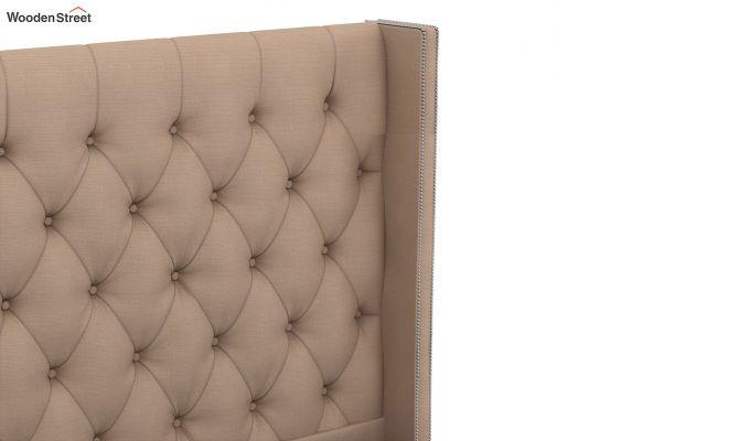 Drewno Upholstered Bed Without Storage (King Size, Irish Cream)-4