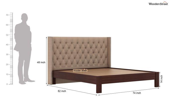 Drewno Upholstered Bed Without Storage (King Size, Irish Cream)-6