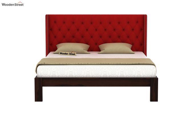 Drewno Upholstered Bed Without Storage (King Size, Dusky Rose)-3