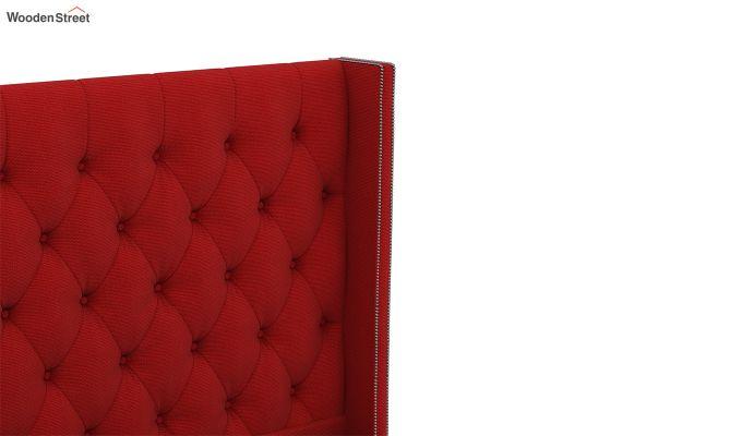 Drewno Upholstered Bed Without Storage (King Size, Dusky Rose)-5