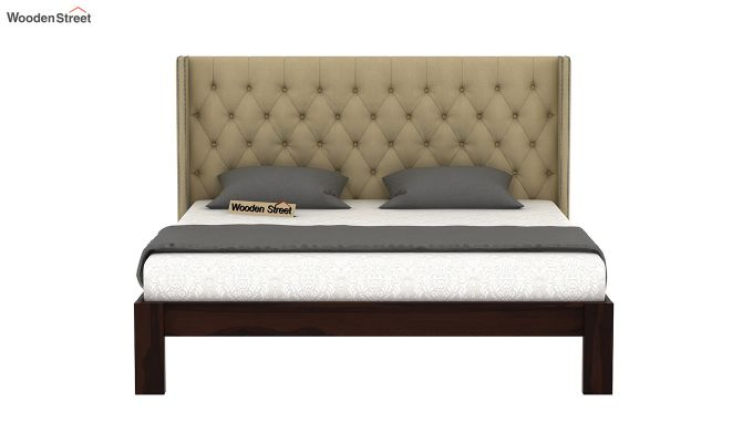 Drewno Upholstered Bed Without Storage (Queen Size, Irish Cream)-3