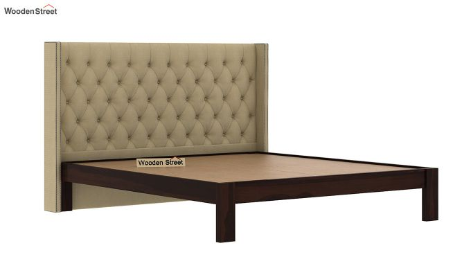 Drewno Upholstered Bed Without Storage (Queen Size, Irish Cream)-4