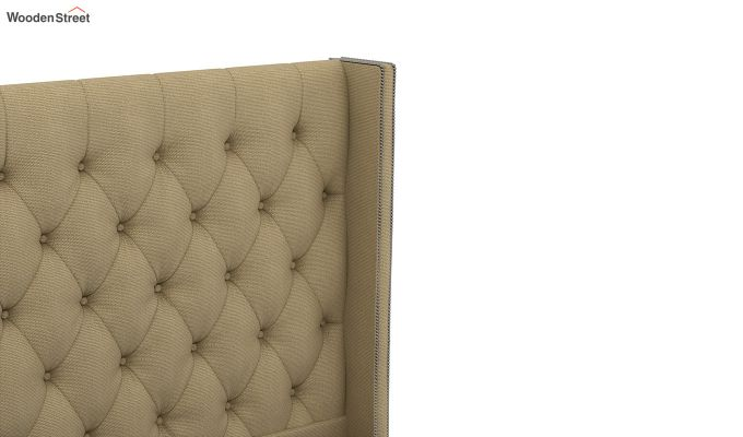 Drewno Upholstered Bed Without Storage (Queen Size, Irish Cream)-5