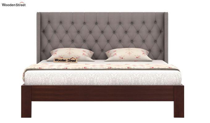 Drewno Upholstered Bed Without Storage (King Size, Warm Grey)-3