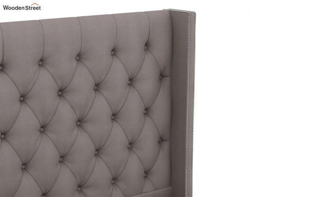 Drewno Upholstered Bed Without Storage (King Size, Warm Grey)-4