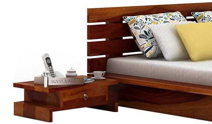 Dwayne Bedside Table (Honey Finish)-1