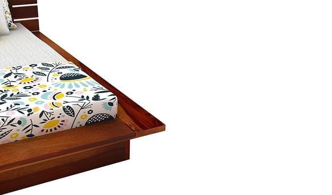 Dwayne Low Floor Platform Bed (Queen Size, Honey Finish)-6