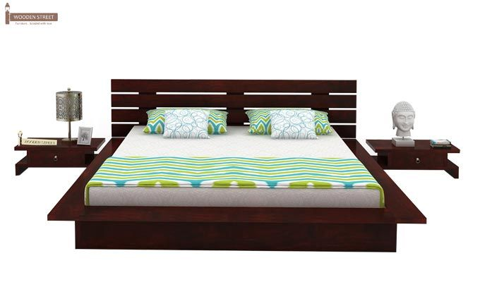 Dwayne Low Floor Platform Bed (King Size, Mahogany Finish)-2
