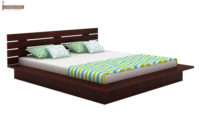 Dwayne Low Floor Platform Bed (King Size, Mahogany Finish)-3
