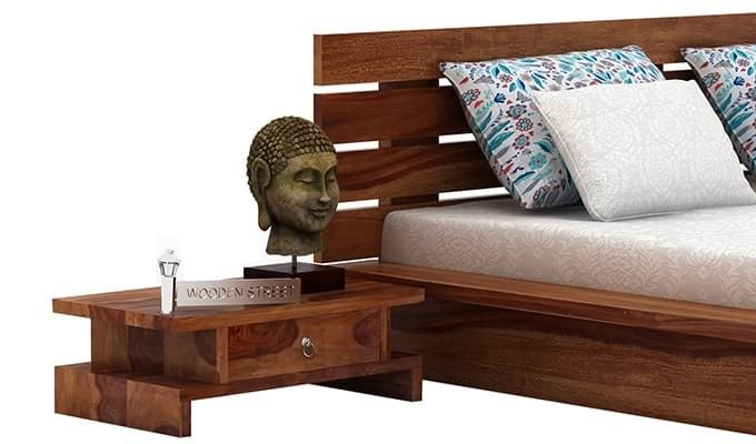 Dwayne Bedside Table (Teak Finish)-2