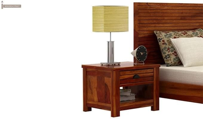 Felner Bedside Table (Honey Finish)-1