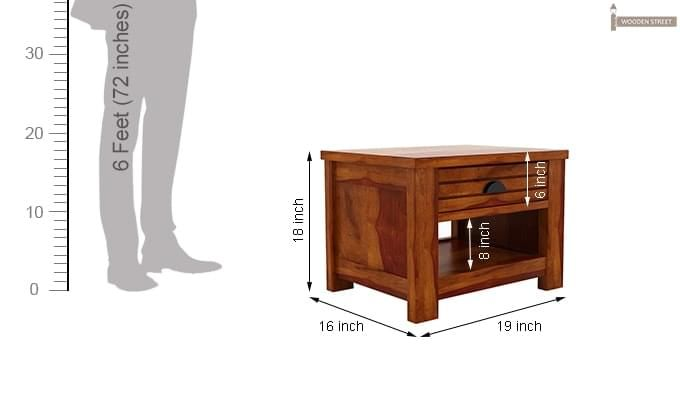 Felner Bedside Table (Honey Finish)-6