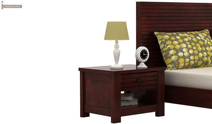Felner Bedside Table (Mahogany Finish)-1
