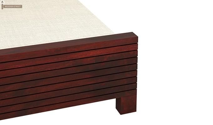 Felner Bed Without Storage (Queen Size, Mahogany Finish)-5