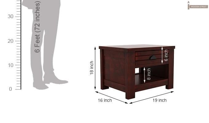 Felner Bedside Table (Mahogany Finish)-6