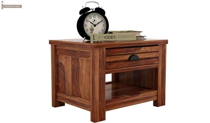Felner Bedside Table (Teak Finish)-2