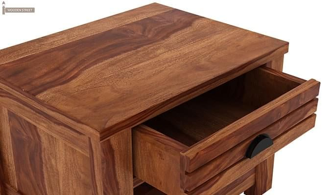 Felner Bedside Table (Teak Finish)-5