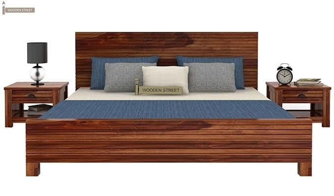 Felner Bed Without Storage (King Size, Teak Finish)-2