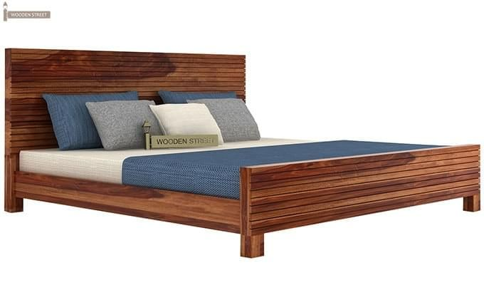 Felner Bed Without Storage (King Size, Teak Finish)-3