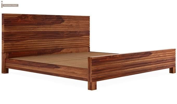 Felner Bed Without Storage (King Size, Teak Finish)-4