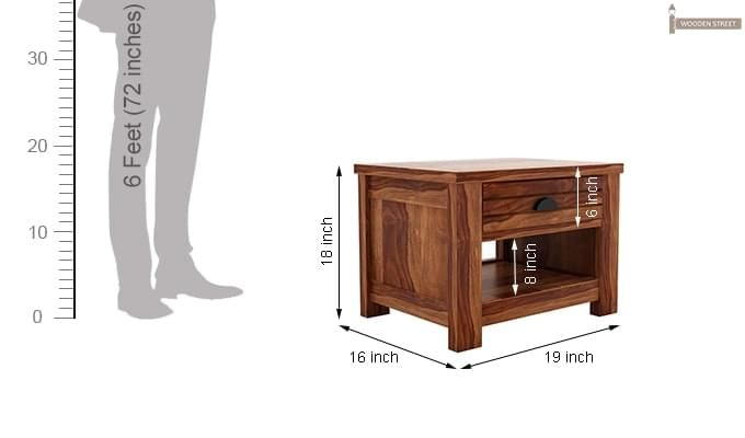 Felner Bedside Table (Teak Finish)-6