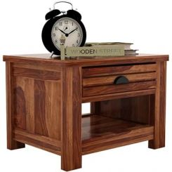 Felner Bedside Table (Teak Finish)