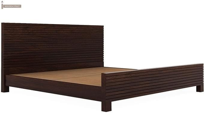 Felner Bed Without Storage (Queen Size, Walnut Finish)-5