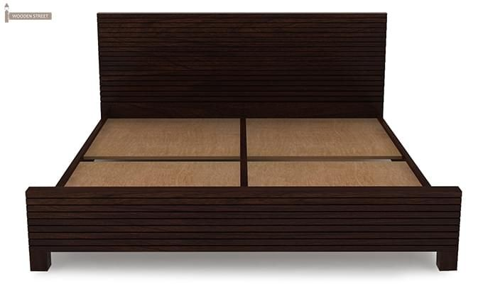 Felner Bed Without Storage (Queen Size, Walnut Finish)-6