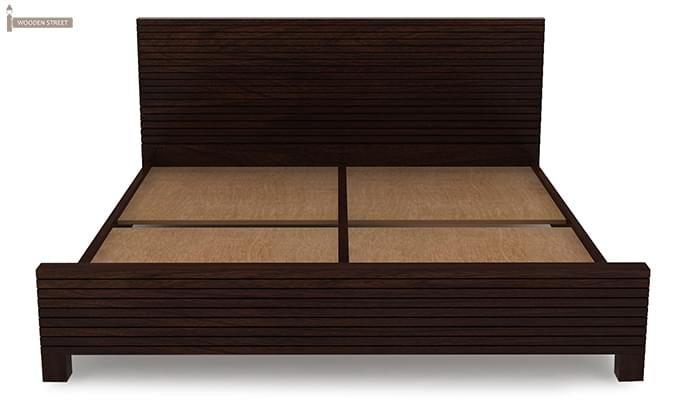 Felner Bed Without Storage (King Size, Walnut Finish)-6