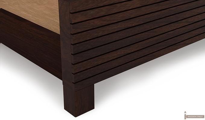 Felner Bed Without Storage (King Size, Walnut Finish)-8