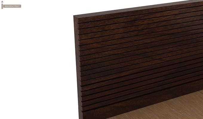 Felner Bed Without Storage (King Size, Walnut Finish)-7