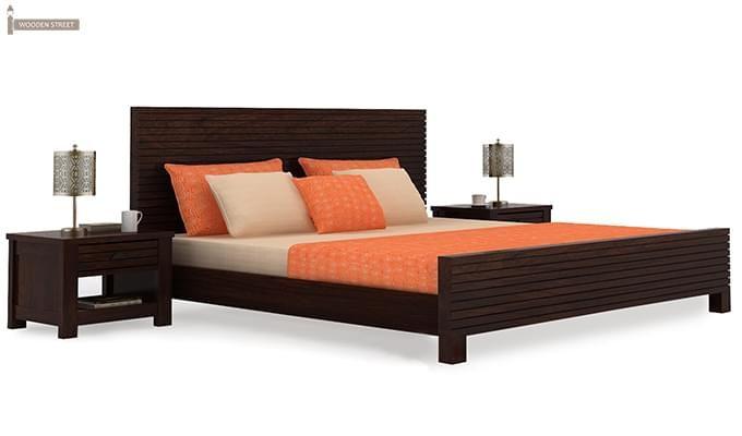 Felner Bed Without Storage (King Size, Walnut Finish)-2