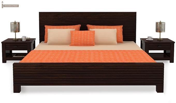 Felner Bed Without Storage (King Size, Walnut Finish)-3