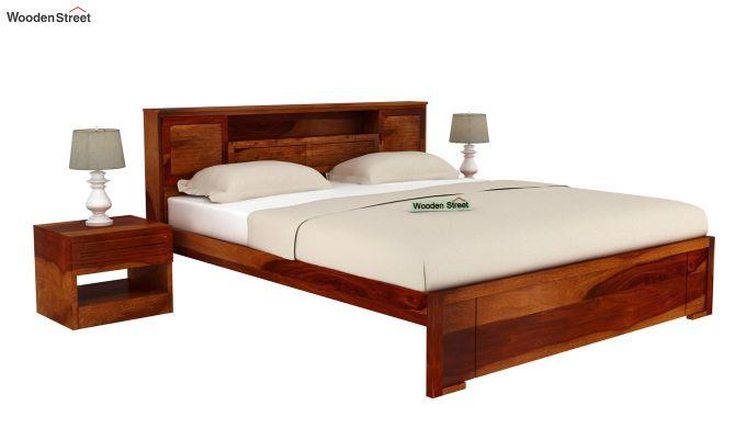 Ferguson Bed Without Storage (King Size, Honey Finish)-2
