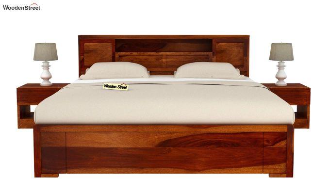 Ferguson Bed Without Storage (King Size, Honey Finish)-3