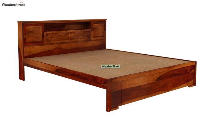 Ferguson Bed Without Storage (King Size, Honey Finish)-4