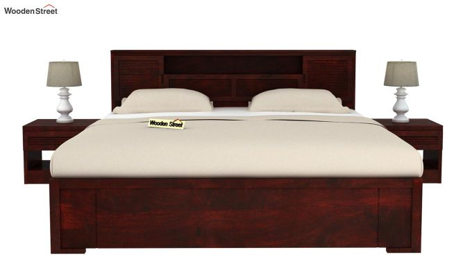 Ferguson Bed Without Storage (King Size, Mahogany Finish)-3