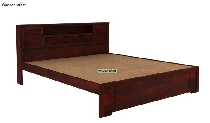 Ferguson Bed Without Storage (King Size, Mahogany Finish)-4