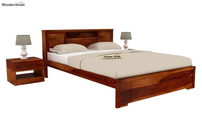 Ferguson Bed Without Storage (Queen Size, Honey Finish)-2