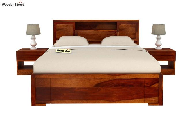 Ferguson Bed Without Storage (Queen Size, Honey Finish)-3