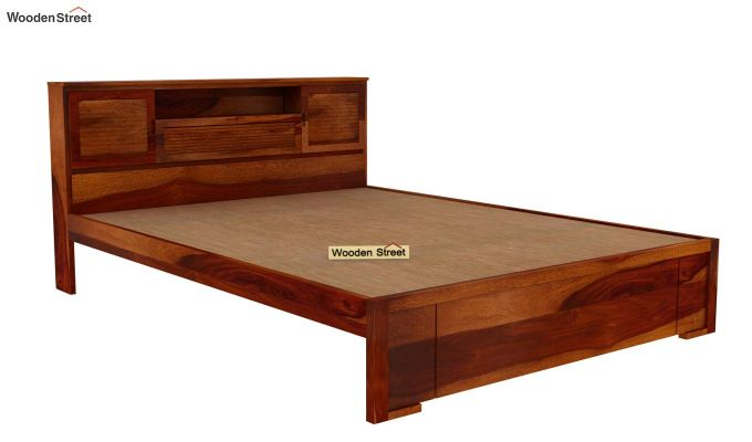 Ferguson Bed Without Storage (Queen Size, Honey Finish)-4