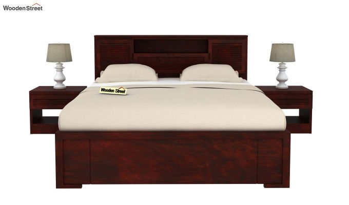 Ferguson Bed Without Storage (Queen Size, Mahogany Finish)-3