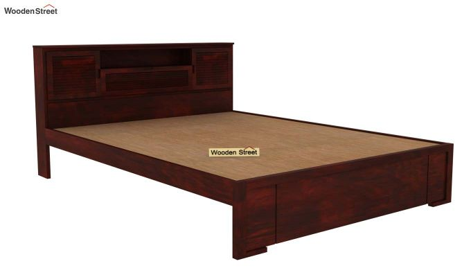 Ferguson Bed Without Storage (Queen Size, Mahogany Finish)-4
